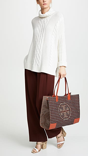 Tory Burch Ella Plaid Tote