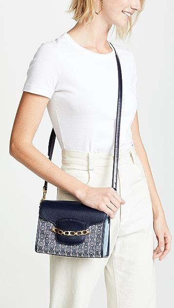 Tory Burch Gemini Link Jacquard Small Crossbody Bag