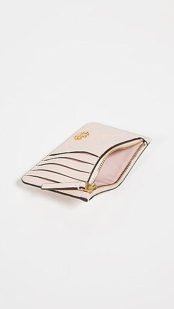 Tory Burch Georgia Zip Card Case