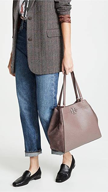 Tory Burch Mcgraw Mixed Media Carryall