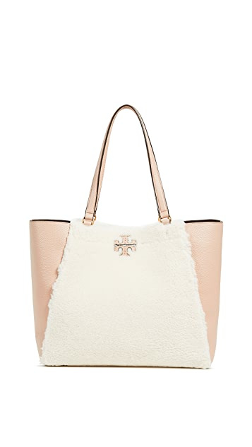 Tory Burch McGraw Shearling Carryall