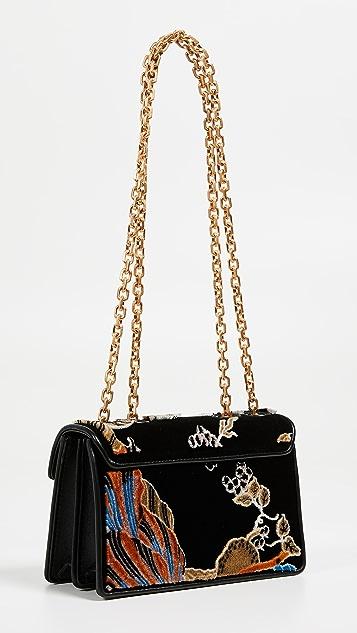 Tory Burch Gemini Link Fil Coupe Small Shoulder Bag