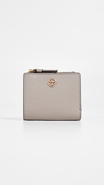 Tory Burch Robinson Mini Wallet - Grey Heron