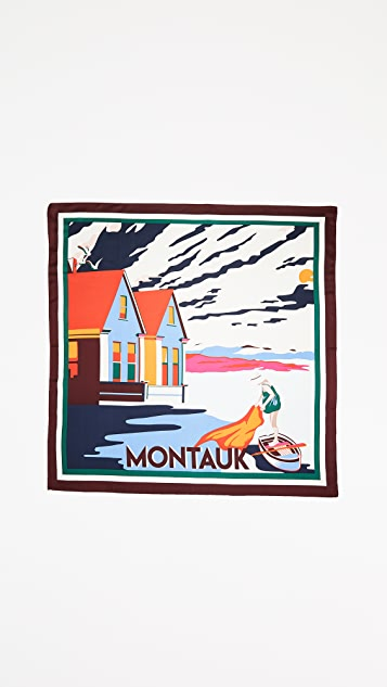 Tory Burch Montauk Silk Square Scarf