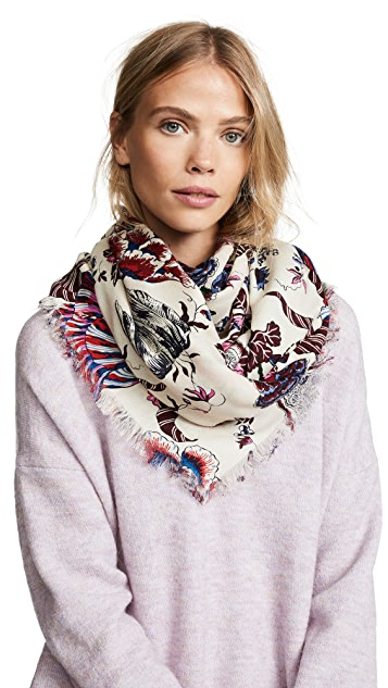 Tory Burch Happy Times Oversized Square Scarf