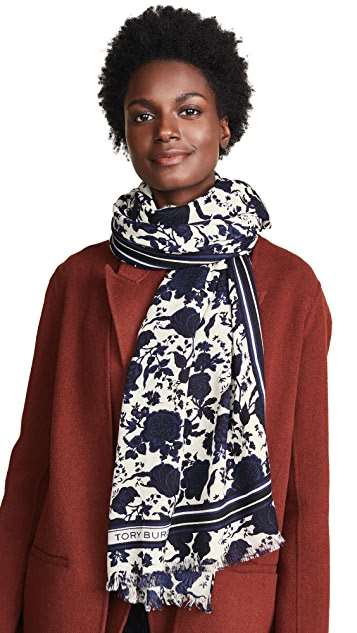 Tory Burch Happy Times Oblong Scarf