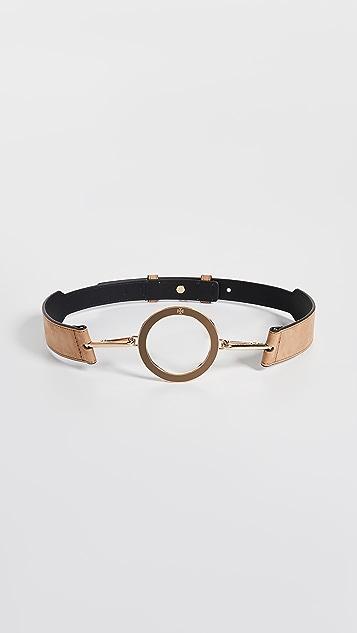 Tory Burch Enamel O-Ring Belt