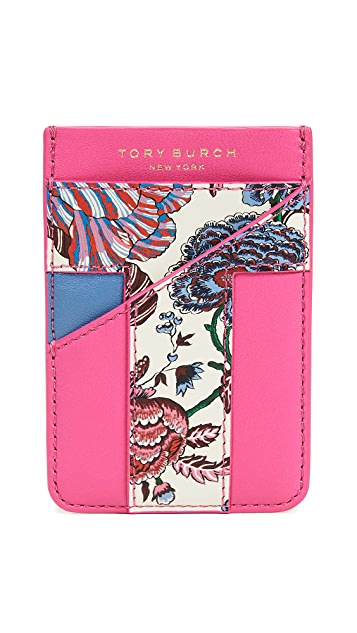 Tory Burch Floral Card Pocket Case