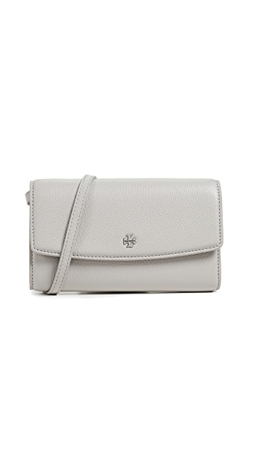 Tory Burch Robinson Pebbled Wallet Cross Body Bag