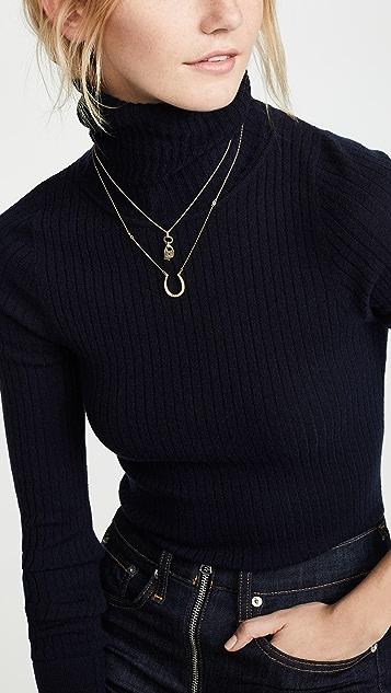 Tory Burch Surreal Lock & Key Pendant Necklace