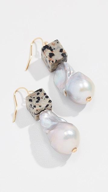 Tory Burch Baroque Pearl & Bead Drop Earrings