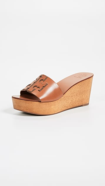 Ines 80mm Wedge Slides by Tory Burch