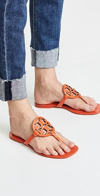 Tory Burch Square Toe Miller Flip Flops