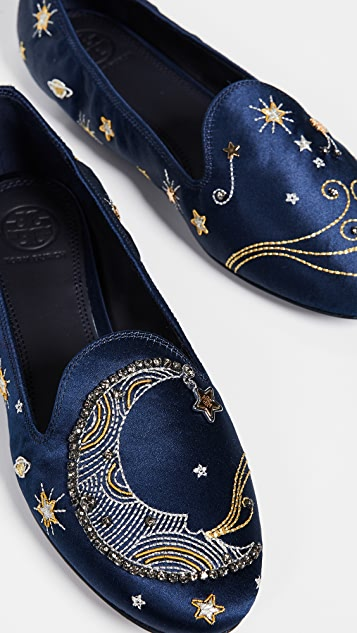 Tory Burch Olympia Embroidered Loafers