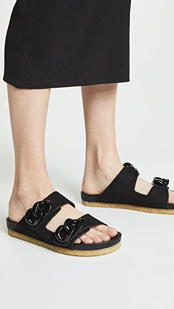 Tory Burch Adrien Two Band Slides