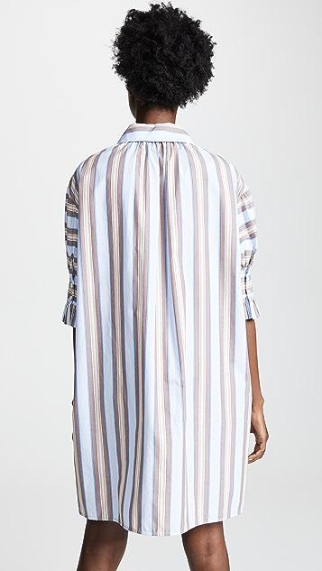 Tory Burch Ruffle Front Shirtdress