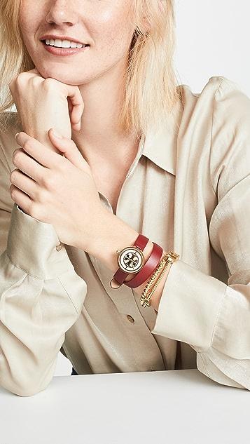 Tory Burch Reva Leather Watch, 28mm