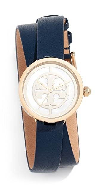 Tory Burch Reva Leather Watch, 28mm