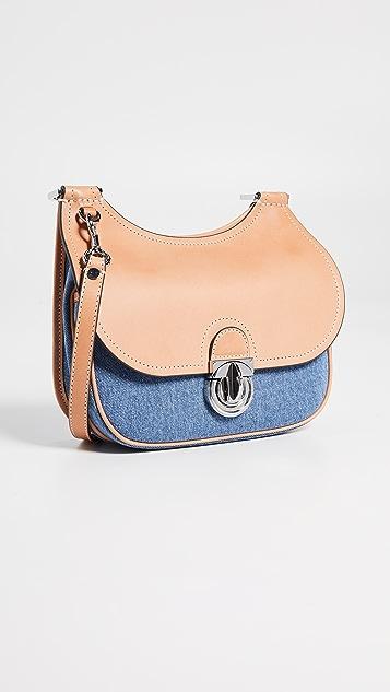 81c440a25fb61a Tory Burch James Small Denim Saddle Bag | SHOPBOP