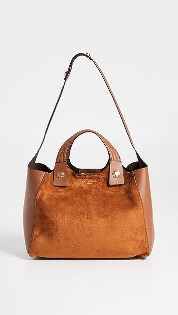 d01b786a2214 Tory Burch Замшевая миниатюрная объемная сумка с короткими ручками Rory ...