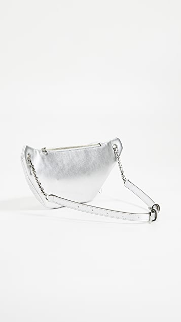 Tory Burch Металлизированная сумка на ремне Fleming
