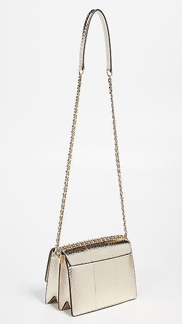 Tory Burch Robinson Exotic Convertible Shoulder Bag