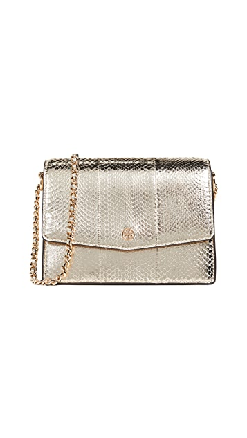 Tory Burch Robinson Exotic Convertible Shoulder Bag