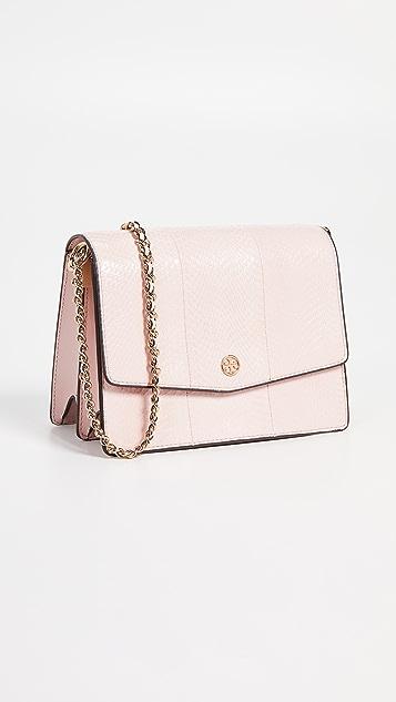 9f9034d0454d7 Tory Burch Robinson Exotic Convertible Shoulder Bag