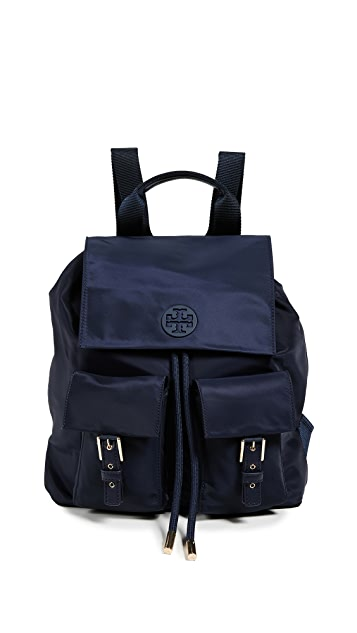 Tory Burch Tilda Nylon Flap Backpack