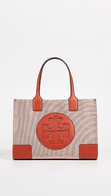 Tory Burch Миниатюрная холщовая объемная сумка с короткими ручками Ella