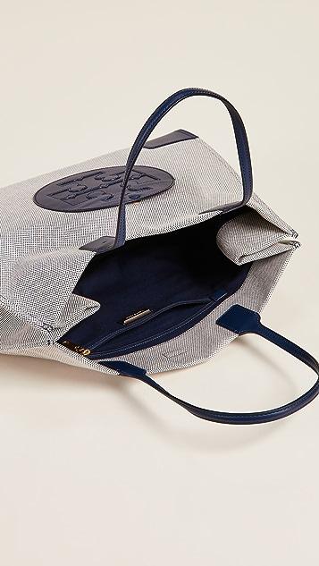 Tory Burch Холщовая объемная сумка с короткими ручками Ella