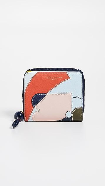 Tory Burch Inside The Box Mini Bi-Fold Zip Wallet