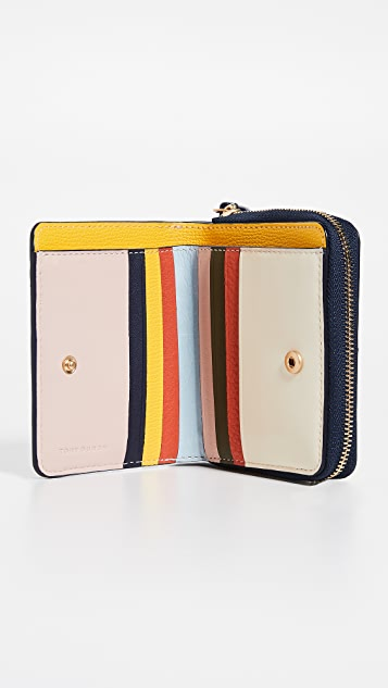 Tory Burch Inside The Box Mini Bi-Fold Zip Wallet