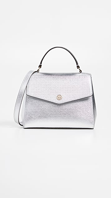 Tory Burch Robinson Metallic Small Top-Handle Satchel