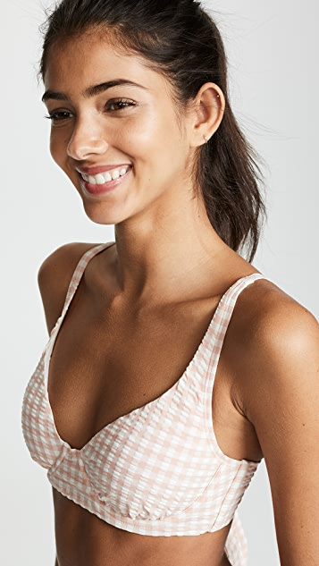 Tory Burch Gingham Underwire Top