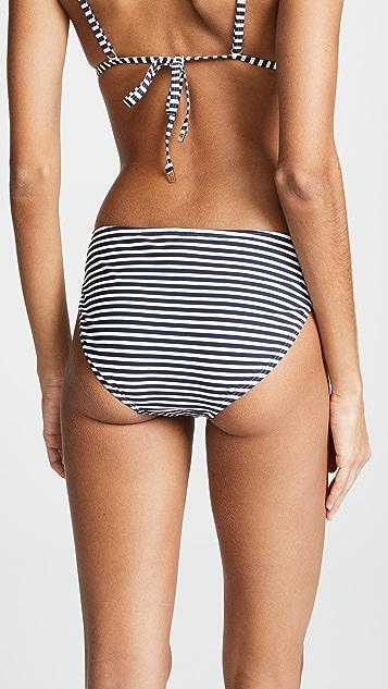 Tory Burch Classic Stripe Hipster Bikini Bottoms