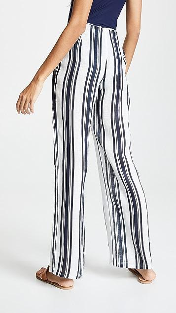 Tory Burch 条纹海滩长裤