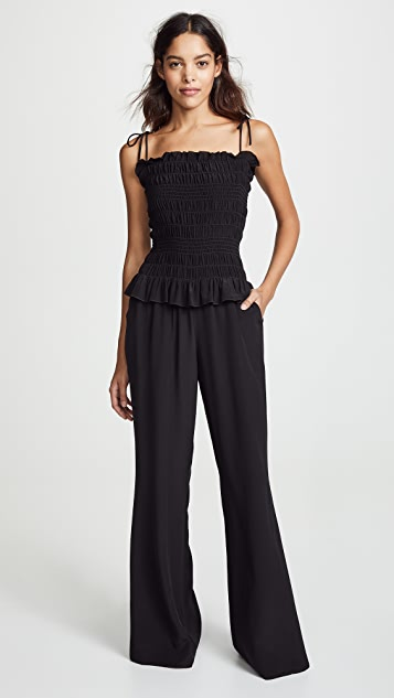 Tory Burch Smocked Jumpsuit