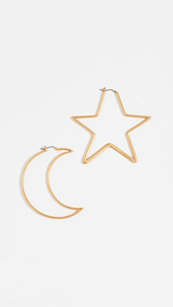 Tory Burch Articulated Celestial Statement Earrings