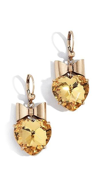 Tory Burch Little Prince Heart & Bow Crystal Earrings