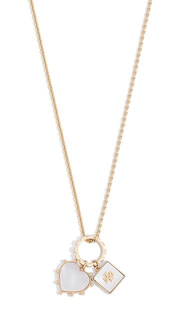 Tory Burch Semi-Precious Charm Necklace