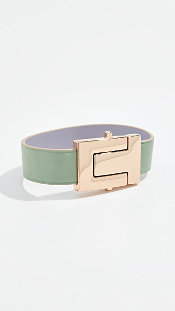 Tory Burch T Logo Leather Bracelet