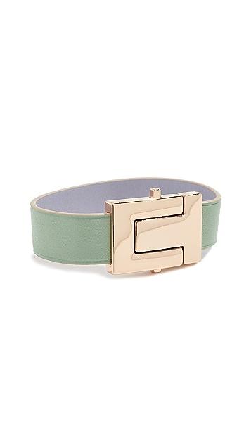 Tory Burch T-Logo Leather Bracelet