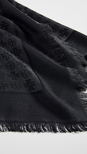 Tory Burch Traveler 徽标提花围巾