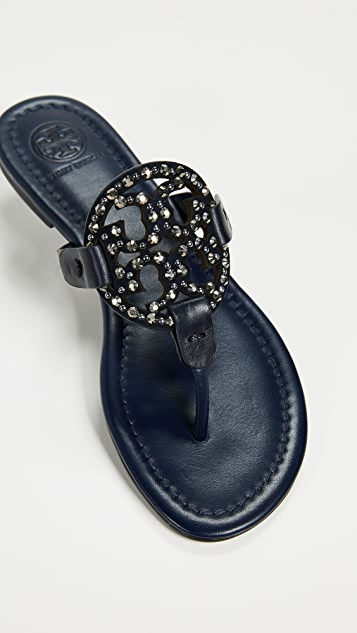 Tory Burch Miller Embellished Thong Sandals
