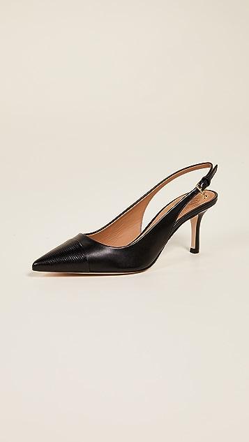Tory Burch Penelope 包头露跟浅口高跟鞋