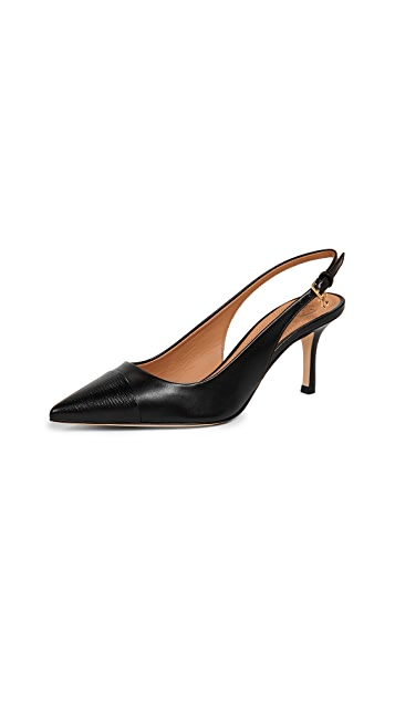 Tory Burch Penelope Cap Toe Slingback Pumps
