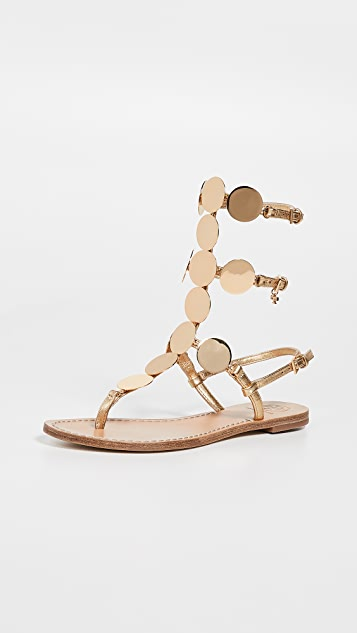 52f93796bc0 Tory Burch Patos Disk Gladiator Sandals ...