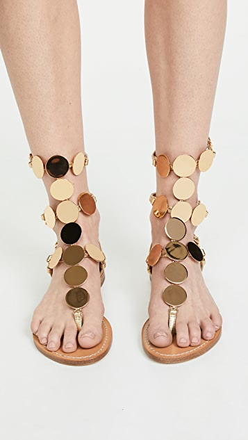 bd23c7884de ... Tory Burch Patos Disk Gladiator Sandals ...