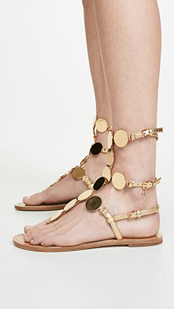 Tory Burch Patos Disk Gladiator Sandals